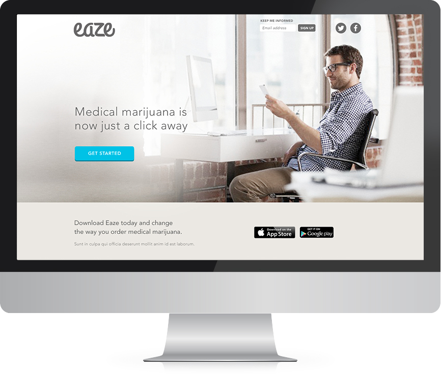 Eaze website design and development agency project after