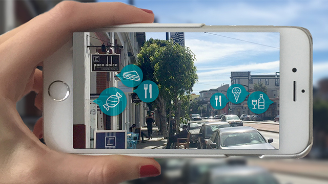 augmented reality AR mobile screen